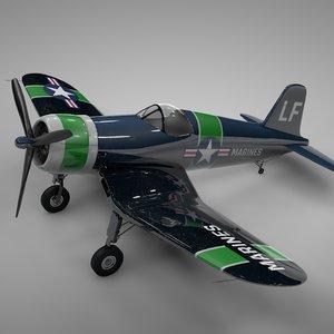 f4u corsair vought usa 3D model