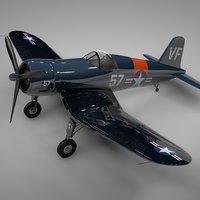 f4u corsair vought vf-921 3D model