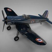 f4u corsair flottille 12f 3D model