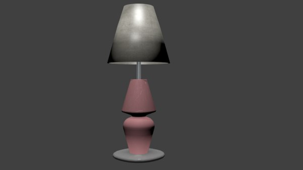 3D cartoon lamp toon model