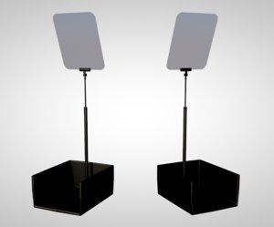 3D teleprompter speaker speaking