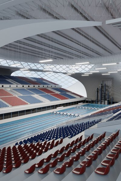 swim stadium seats 3D model