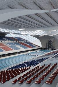 swim stadium seats 3D model