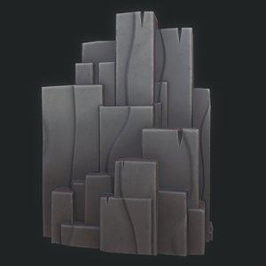 cartoon rock cliff 3D model