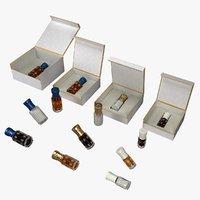 perfume bottles 3D model
