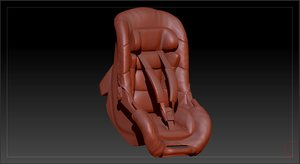 3D baby car seat model