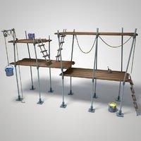 cartoon scaffolding model