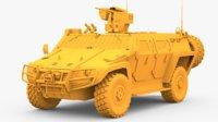 COBRA-2 Tactical Armored Vehicle Untextured