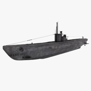 3D model viic u-boat uboat