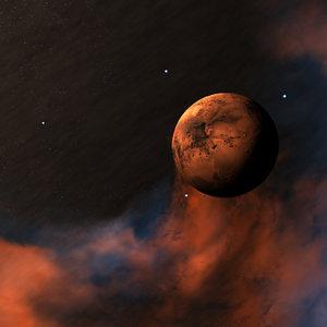 3D planet mars space environment