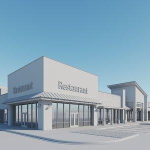 modern retail 3D model