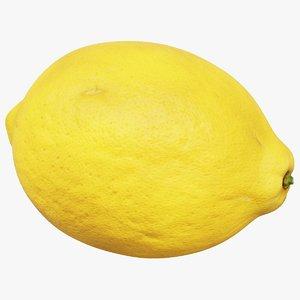 3D lemon fruit