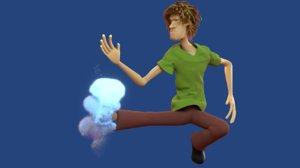 3D model shaggy god