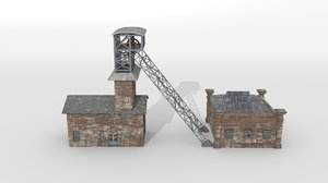 3D coal building old