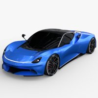 3D pininfarina battista model