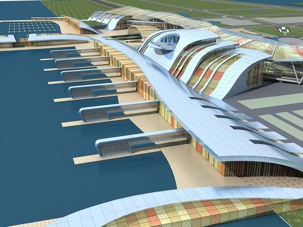 yacht dock 2 3D model