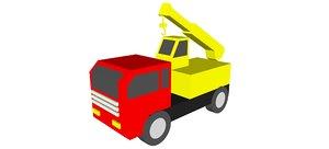 crane truck toy 3D