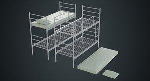 3D model bunk bed 1a