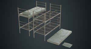 bunk bed 1b 3D model