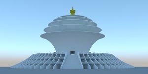 3D lumbini nepal