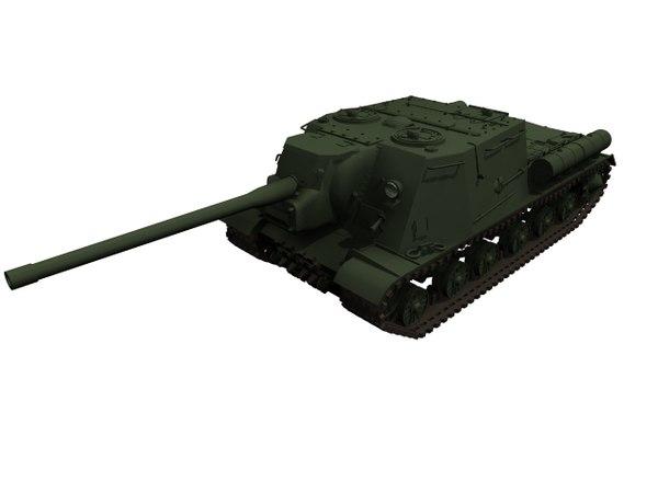 tank isu 122 3D model
