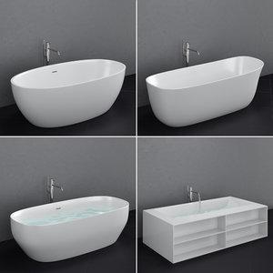set freestanding baths antoniolupi 3D