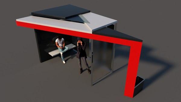 busstop road 3D model