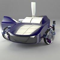 3d self sedan car