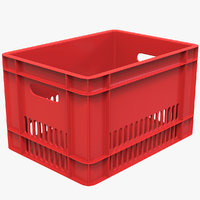 3D red crate model
