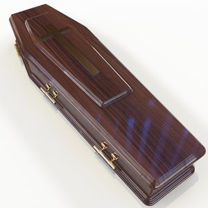 coffin casket 3D model