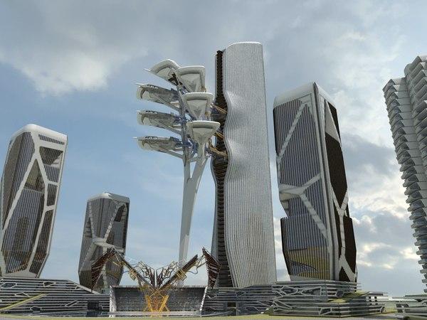 3D futuristic skyscrapers 7