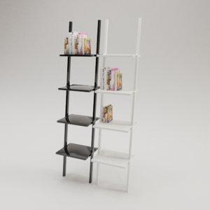 3D stylish libri shelves book