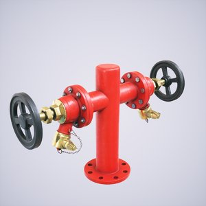 3D 4k hydrant