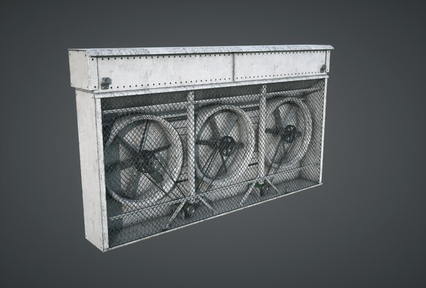 3D model vents triple fan