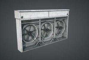 3D model vents triple fan