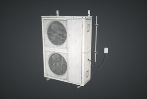 external air conditioner double 3D model
