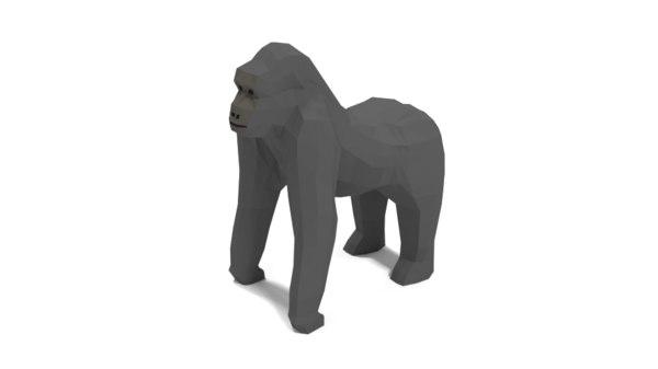 cartoon gorilla art 3D