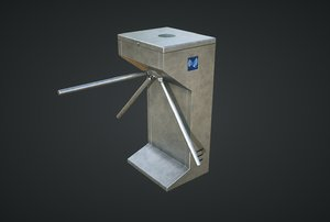 3D model inteligent security flap gate