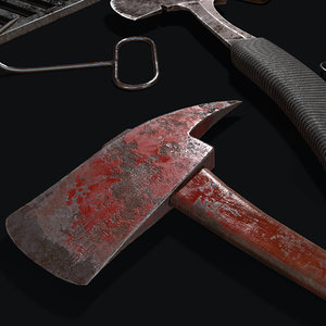 butcher set axes saws model