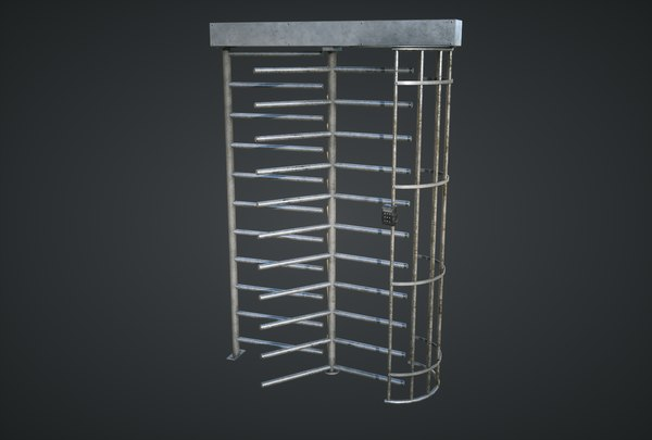 security turnstile 3D model