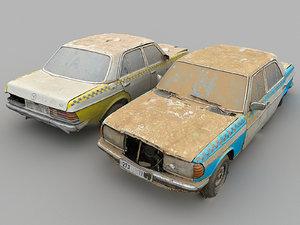 3D slums car wreck model