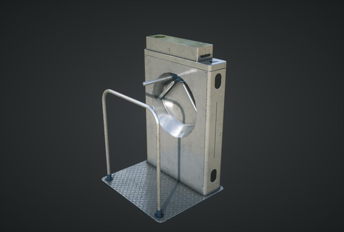 3D inteligent security gate model