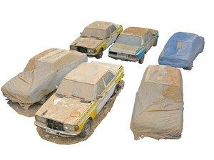 slums car wreck pack 3D model