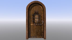 3D dungeon door model