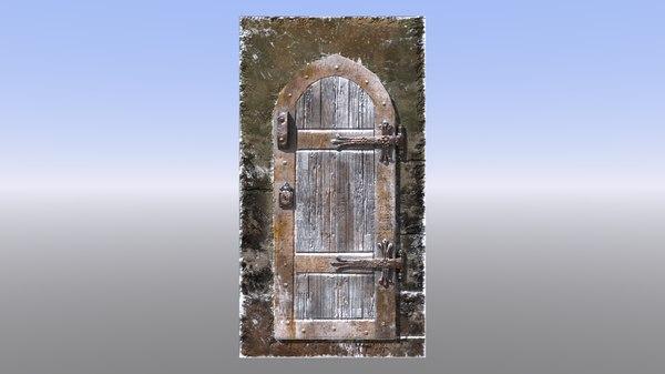 medieval door dungeon castle 3D model