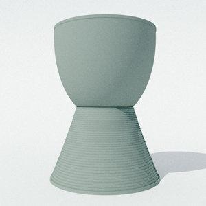 prince aha stool philippe starck 3D model
