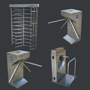 3D inteligent security gates pack model