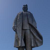 3D post soviet monument man