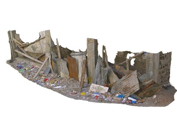 african slums scan 16k 3D model