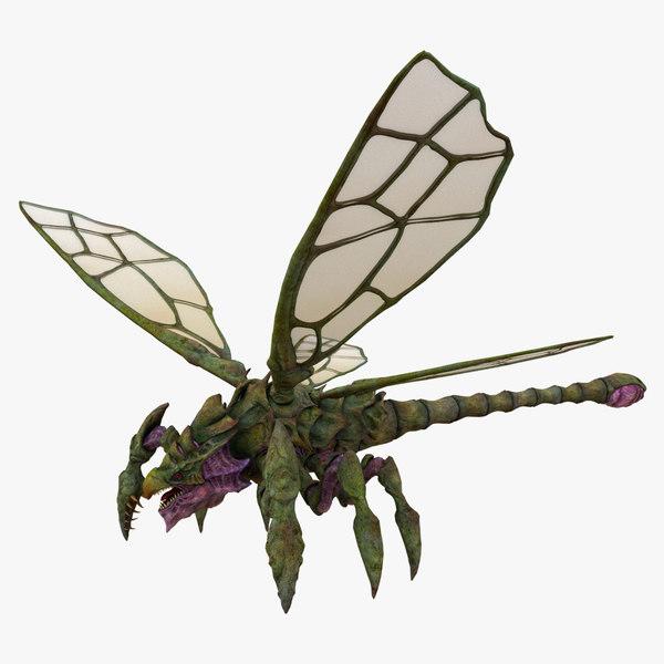 dragon dragonfly fly 3D model